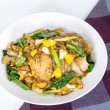 Stir Fried Rice Noodle With Chinese Broccoli — Stock Photo #50605925