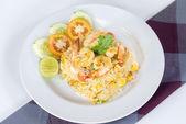 Thai Fried rice  with shrimp — Stock Photo