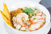 Combination Noodle contains many thai food — Stock Photo