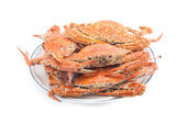 Many steam crab on one dish — Stock Photo