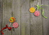 Sweet still life with candies — Stock Photo