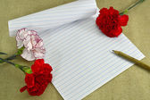 Letter with flowers — Stockfoto