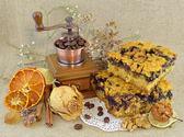Vintage food still life — Stock Photo