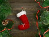 Santa boot — Stock Photo