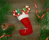 Santa-boot — Stockfoto