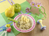 Baby porridge — Stock Photo