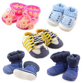 婴儿鞋集 — 图库照片
