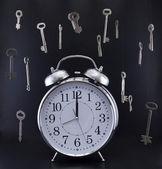 старомодные часы — Стоковое фото