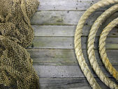 Net and rope — Stock Photo