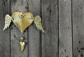 Svíčka na dřevo — Stock fotografie