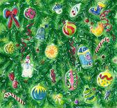 Christmas watercolor illustration — Foto de Stock