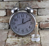Clock with candle — Foto Stock