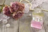 Still life with rose fragrance — Stock Photo