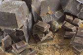 チョコレート キューブ — ストック写真