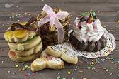 Biscotti fatti a mano con cupcake — Foto Stock