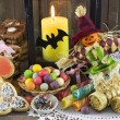 Halloween doll with candies and gifts — Stock Photo #47733397