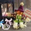 Halloween doll with candies and gifts — Stock Photo #47733459