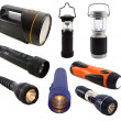 Collection of flashlights — Stock Photo #48366049