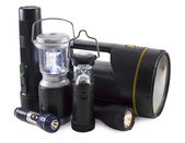 Group of flashlights — Foto Stock