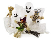 Handmade Halloween monsters dolls — Stock Photo