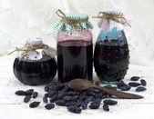 Three jam jars — Stock Photo