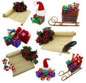 Collection with Christmas decoration — Foto de Stock