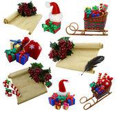Sammlung mit weihnachtsdekoration — Stockfoto