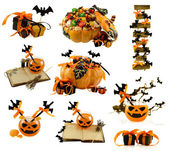 Collection of Halloween decorations — Stock Photo