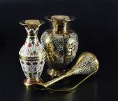 Antique Indian vases — Stock Photo