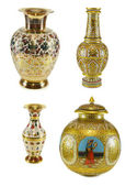 Collection of Indian vases — Stock Photo