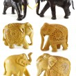 Decorated wooden elephants — Stock Photo #51628357