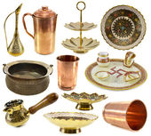 Traditional Indian dishware — Stock Photo