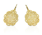 Gold Filigree Dangle Earrings — Stock Photo