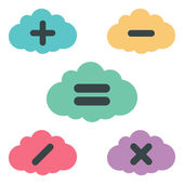 Clouds arithmetic — Stock Vector
