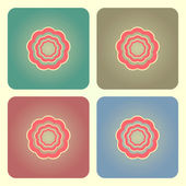 Abstrakt blomma knappar — Stockvektor