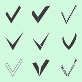Confirm icons set — Stock Vector