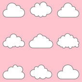 Clouds set, icons for cloud computing for app and web — Wektor stockowy