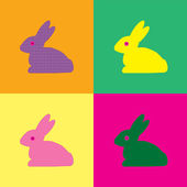 Rabbit Warhol style — Stock Vector