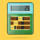 Calculator and Abacus in one — Stockvector