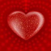 červená valentýnské srdce — Stock vektor