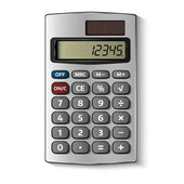Pocket calculator isolated on white — Stock Vector