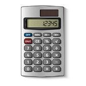 白で隔離されるポケット電卓 — ストックベクタ