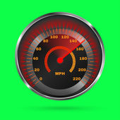 Speedometer isolated on green. Vector illustration — Cтоковый вектор