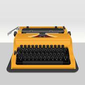 Realistische schrijfmachine geïsoleerd op grijs. vectorillustratie — Stockvector