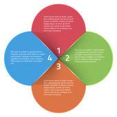 Inforaphics template. Vector illustration — Stock Vector
