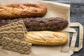 Bread from rye and wheat flour — Стоковое фото
