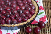 Cherry tart — Stock Photo