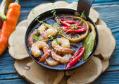 Shrimp with spices — Stok fotoğraf