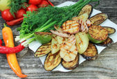Verduras a la plancha — Foto de Stock