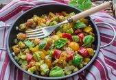 ångade grönsaker — Stockfoto